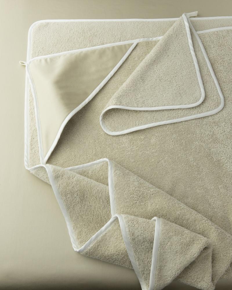 Банный уголок с капюшоном и полотенце Bon Ton Sable - fioridivenezia.ru