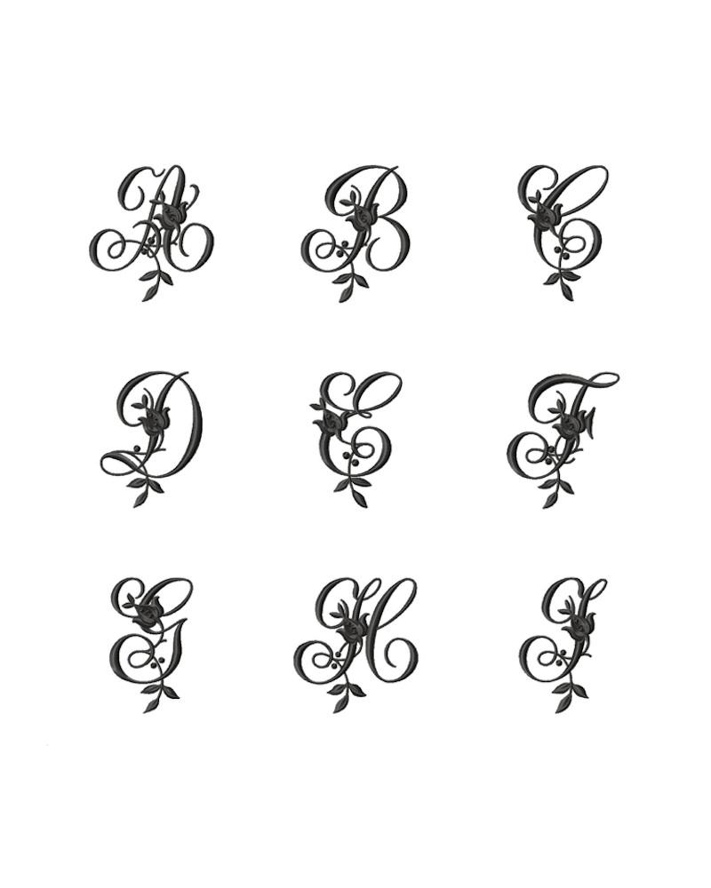 Буквы для вышивки вензеля - fioridivenezia.ru