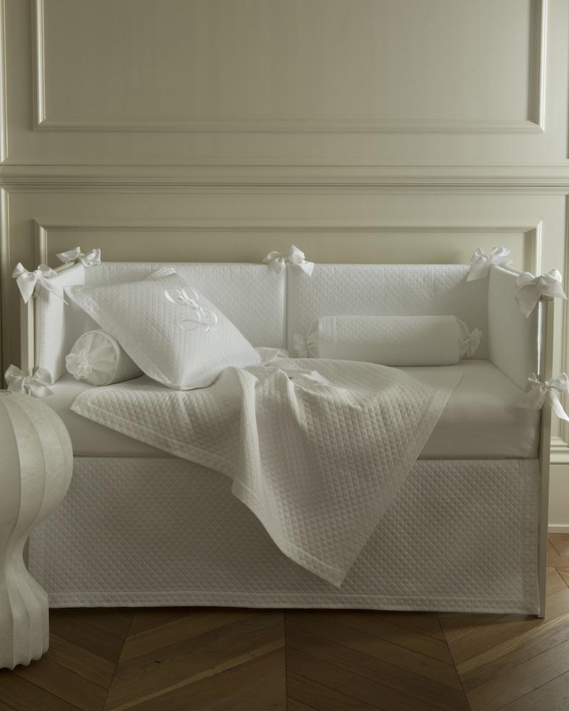 Бортик в кроватку 3ст Solo Bianco - fioridivenezia.ru