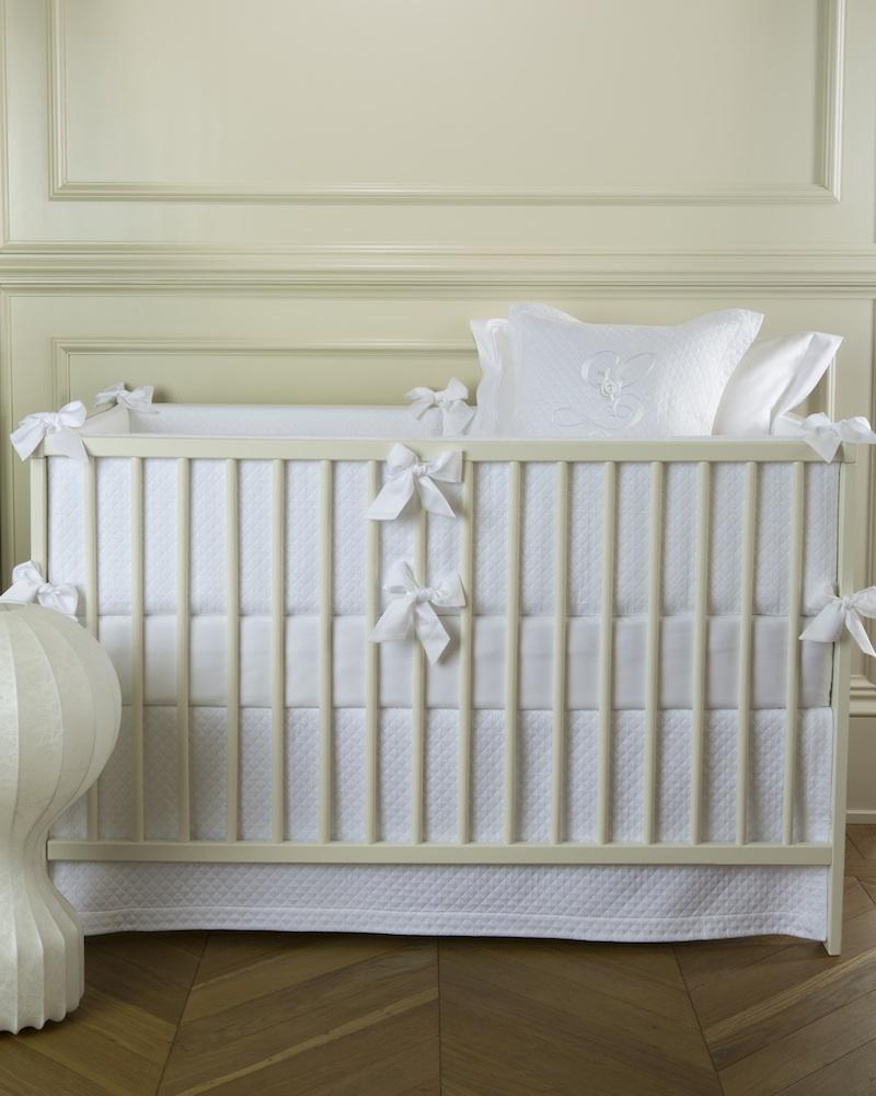Юбка для кроватки Solo Bianco - fioridivenezia.ru