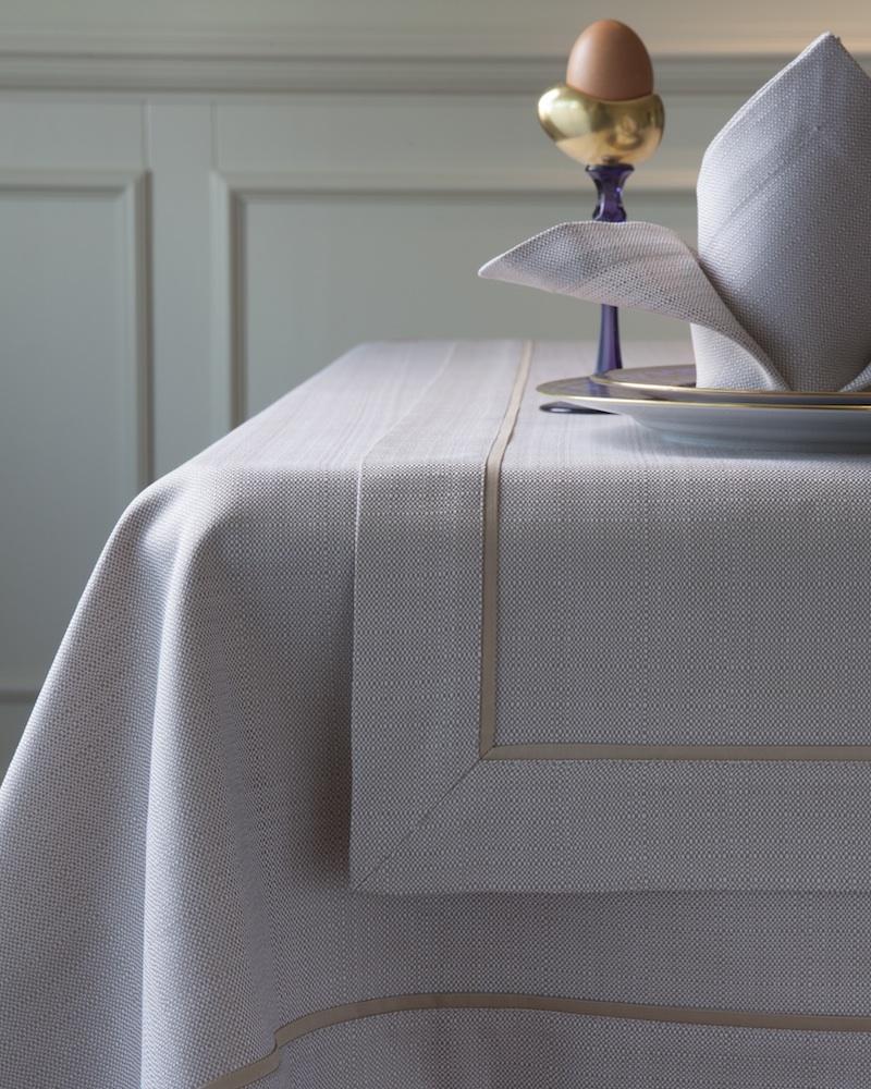 Дорожка из ткани Salerno - цвет Sahara, кантик Sable, состав хлопок 100%