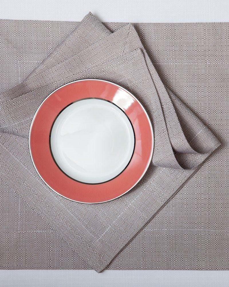 Подстановочная салфетка из ткани Salerno, цвет Pietra, состав хлопок 100%