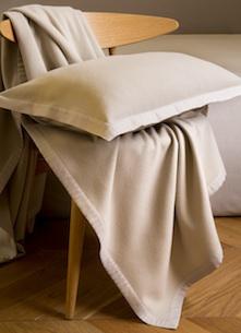Плед и подушка Lana Sand