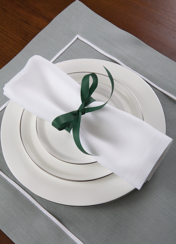 Подстановочная салфетка Provenza Irish Winter, кантик Bianco, состав лен 100% - fioridivenezia.ru