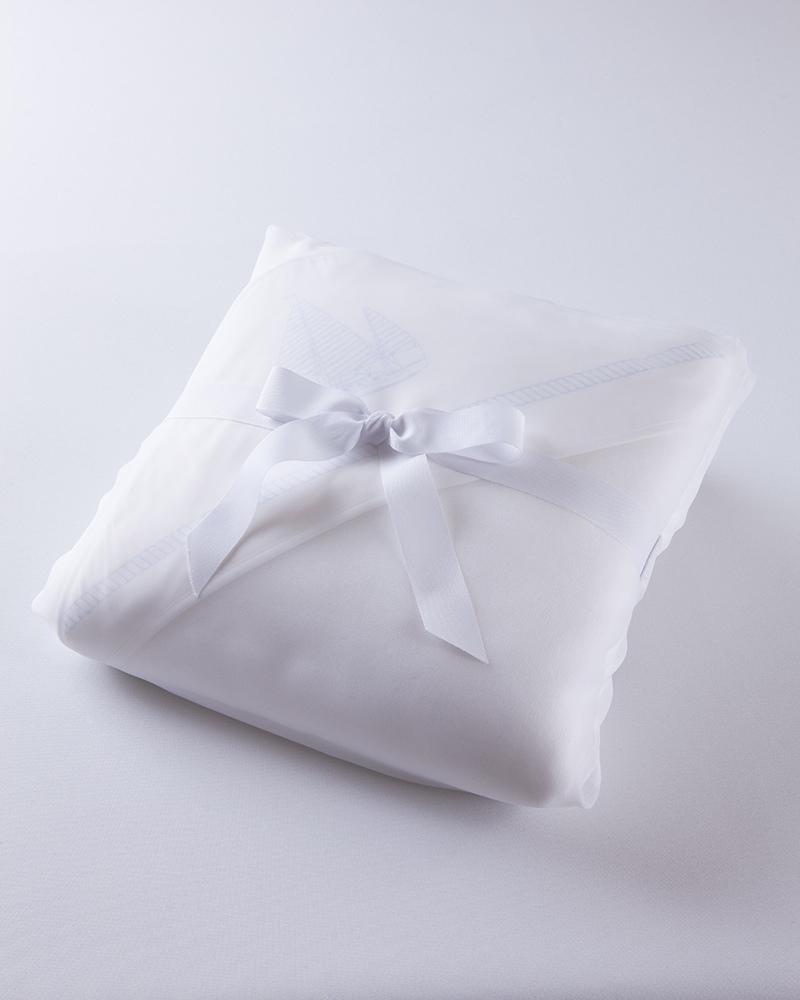 Банный комплект для малыша Knots Lights Blu, махровый уголок и полотенца в упаковке - fioridivenezia.ru
