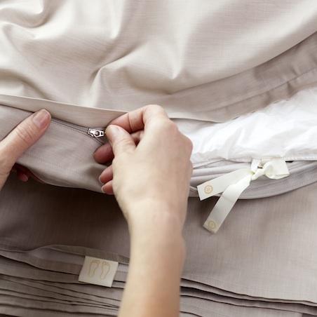 Эргономика постельного белья - застежка молния