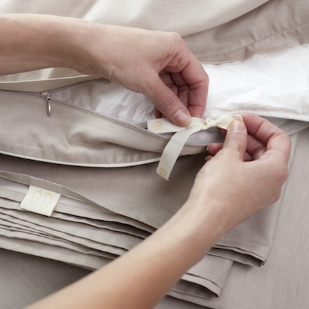 Эргономика постельного белья - завязки