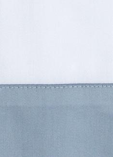 Образец ткани для пошива постельного белья - модель Foscari - цвет Sion/серо-голубой - египетский хлопок 100%
