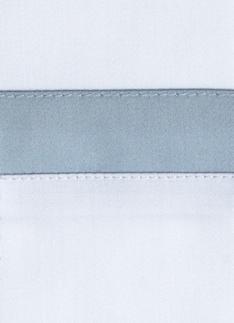 Образец ткани для пошива постельного белья - модель San Antonio - цвет Sion/серо-голубой - египетский хлопок 100%