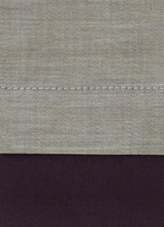 Образец ткани для пошива постельного белья - модель Samuele - цвет Vino - египетский хлопок 100%