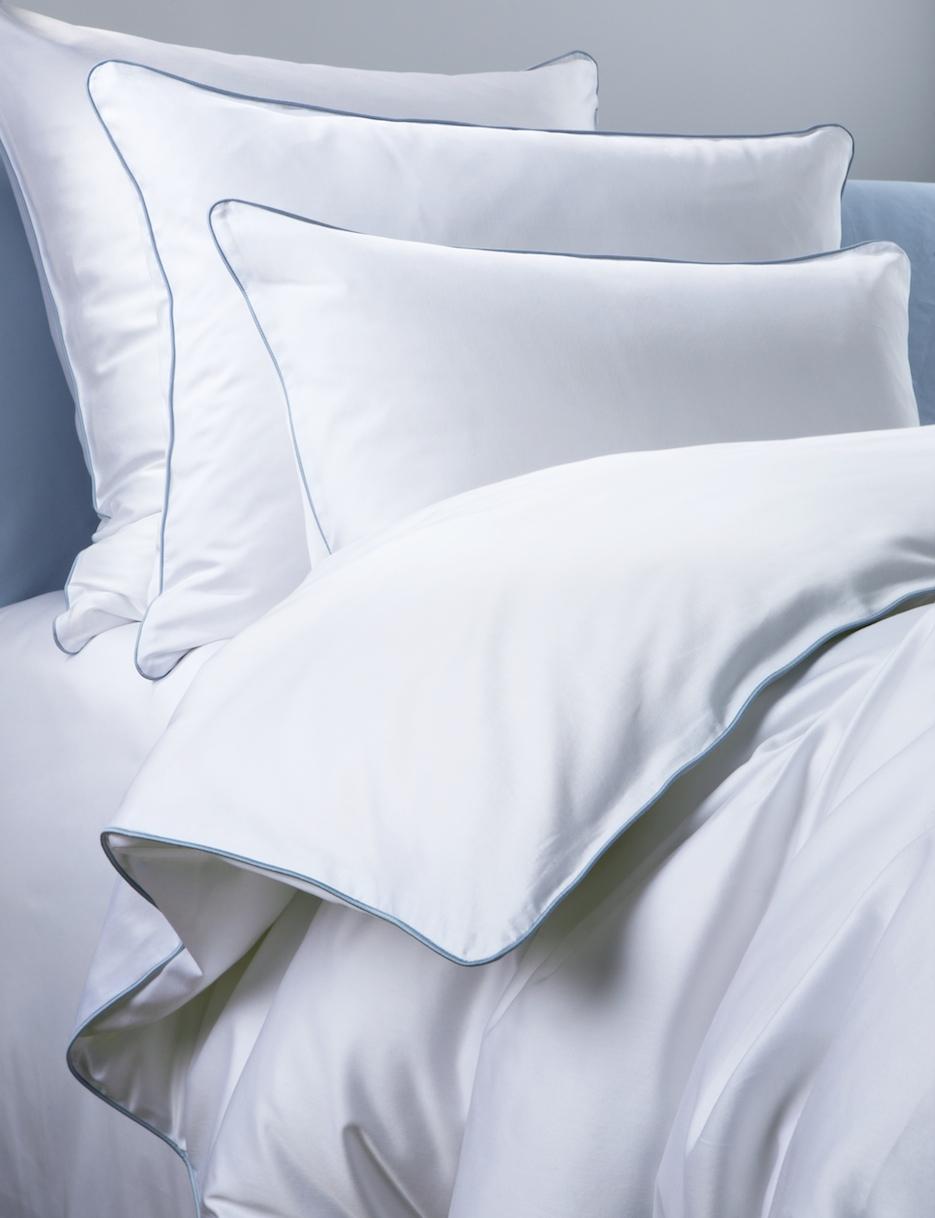 Постельное белье - модель Lion - цвет Sion/сероголубой - состав египетский хлопок 100% - производство Италия