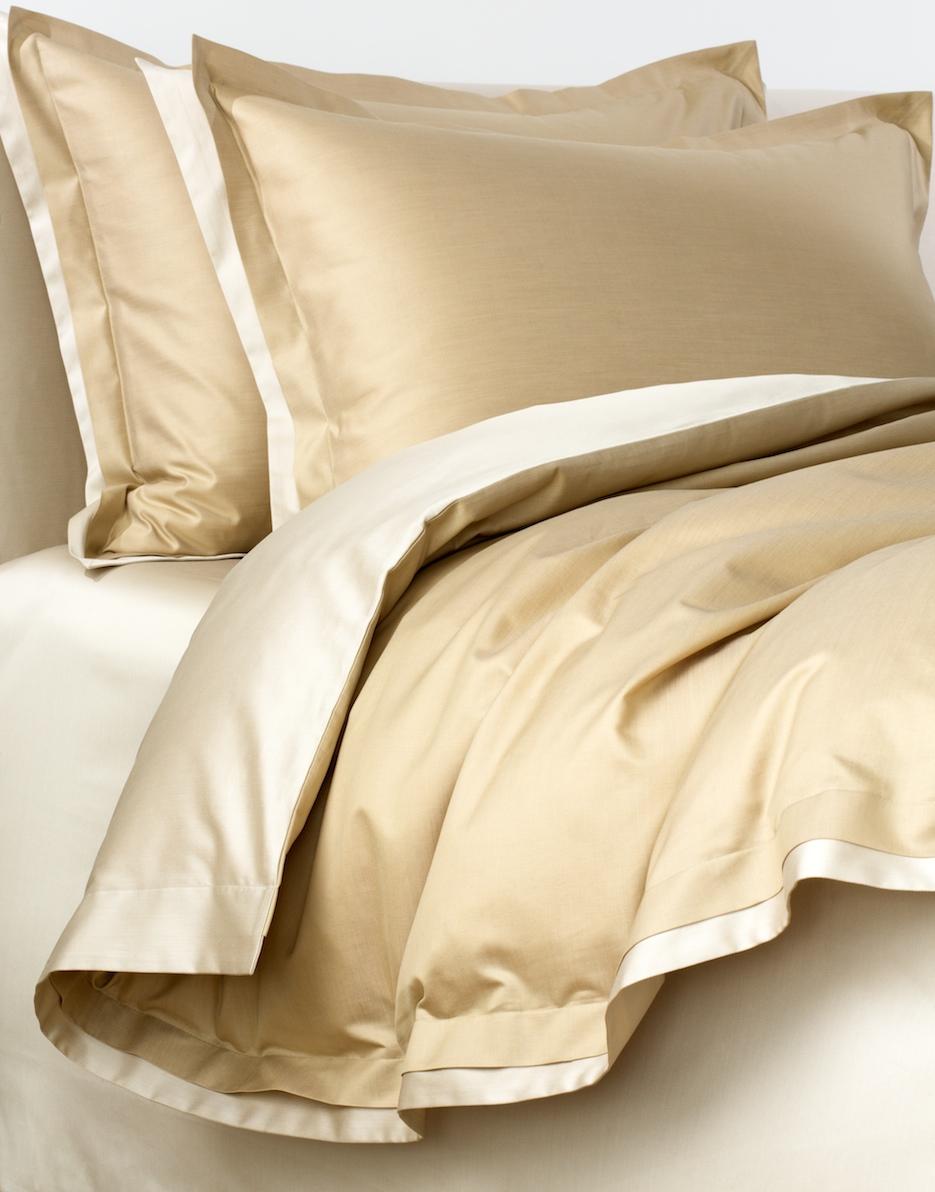 Постельное белье - модель Palazzo - цвет Oro/золото - состав египетский хлопок 100% - производство Италия