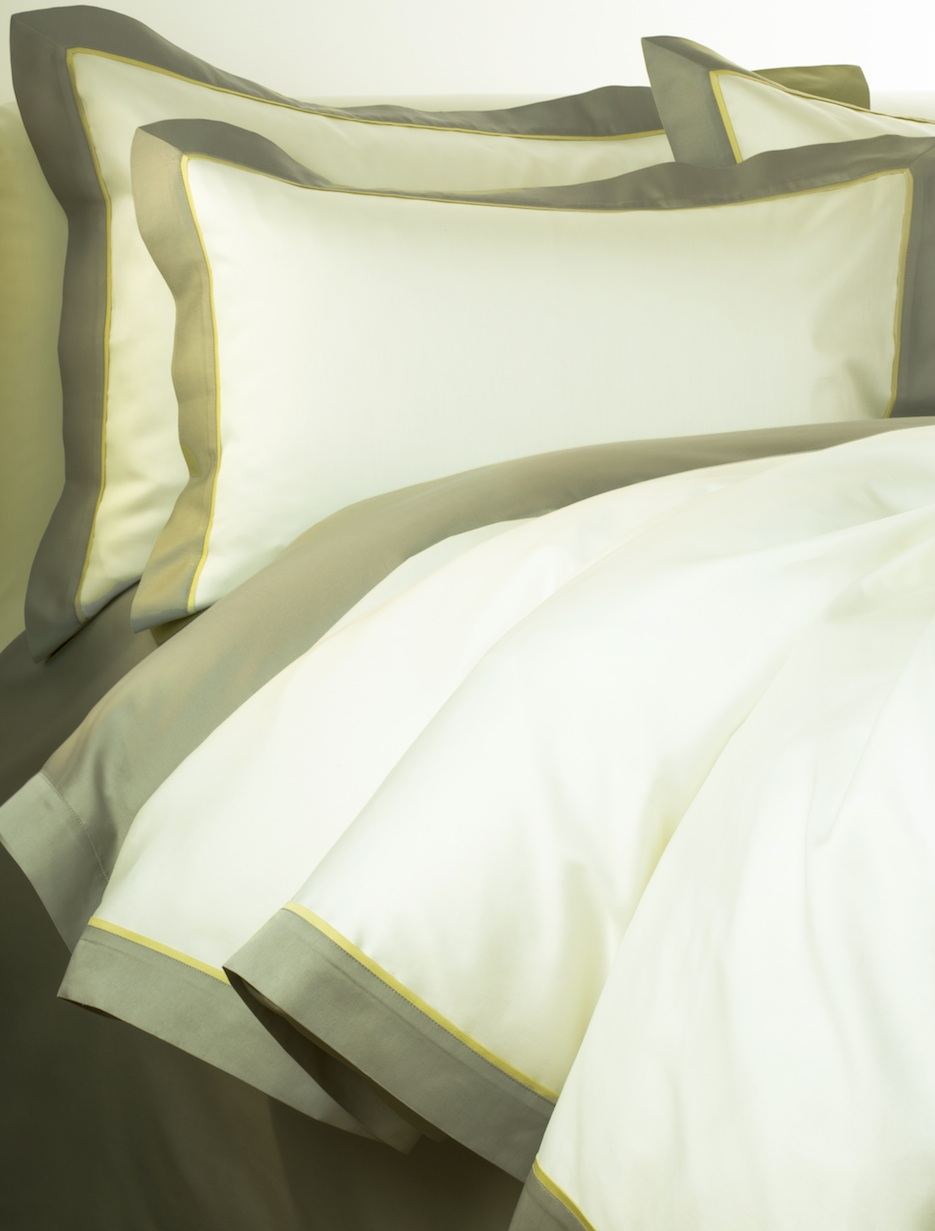 Постельное белье - модель Clemente - цвет Oliva - египетский хлопок 100%