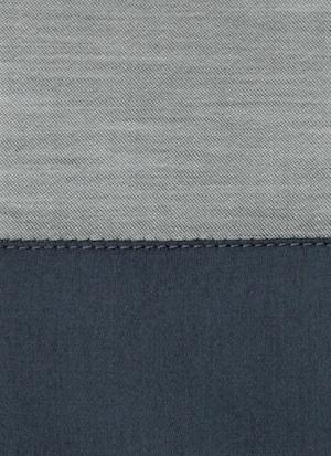 Образец ткани для пошива постельного белья - модель Marco цвет Blu notte - египетский хлопок 100%