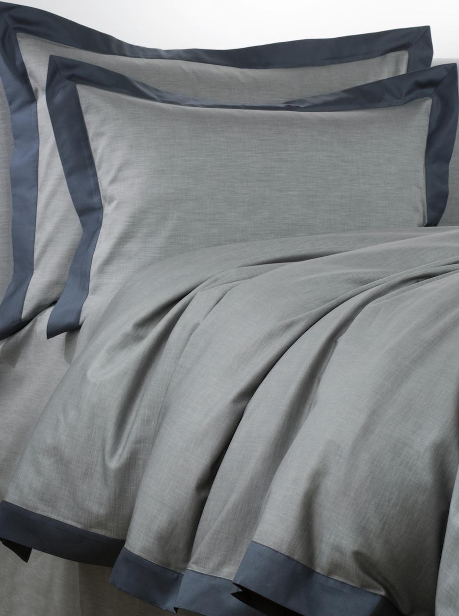 Постельное белье - модель Marco - цвет Blu notte - египетский хлопок 100%