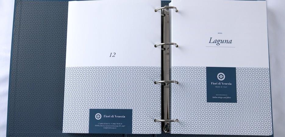 интернет ателье пошива постельного белья Fiori di Venezia - каталог с образцами тканей