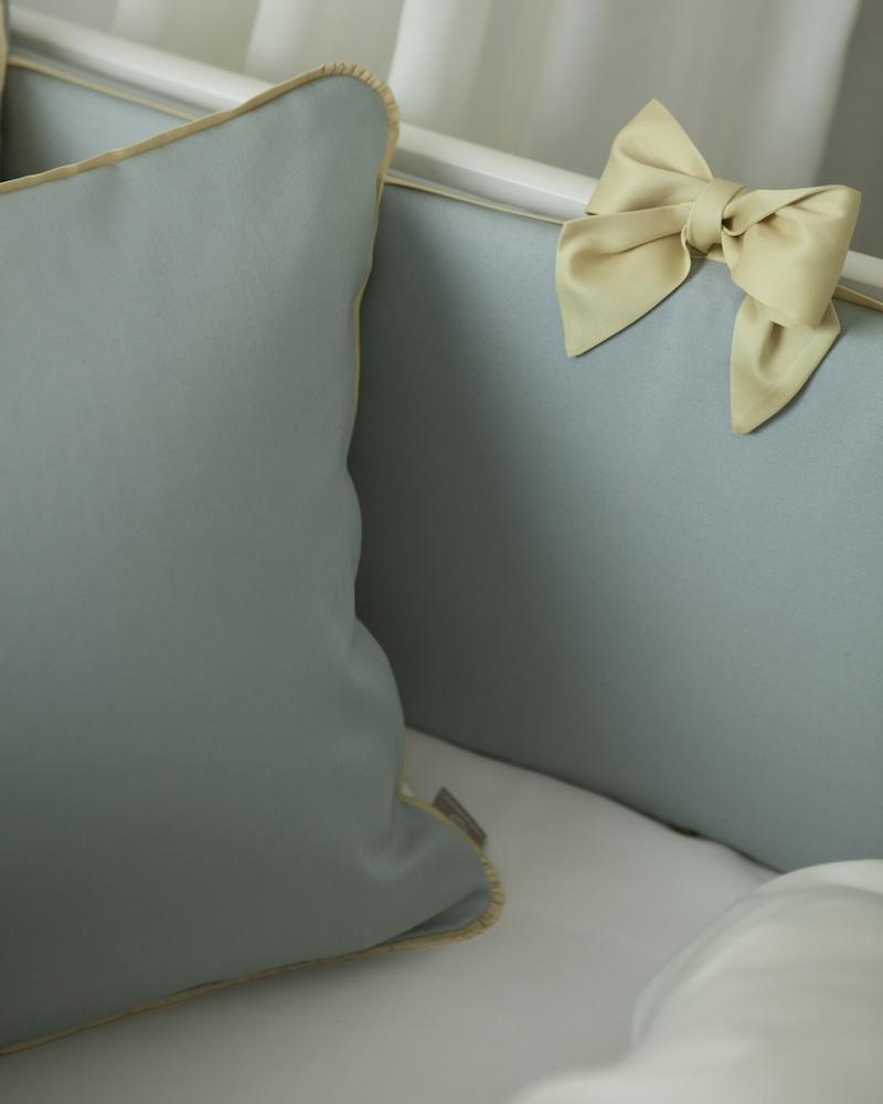 Бортик в детскую кроватку Candy Mint, состав хлопок 100% - fioridivenezia.ru