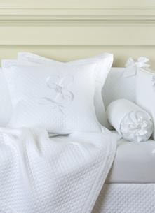 Декоративная подушка с вышивкой и валик Solo Bianco