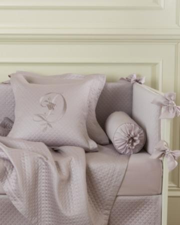 Декоративная подушка с вышивкой и валик Solo Lilla