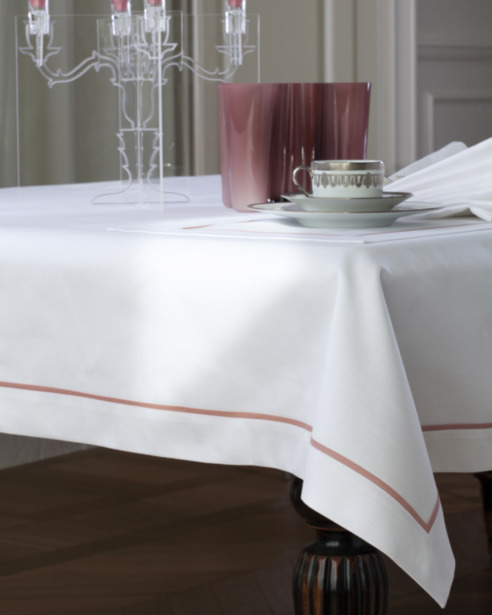 Набор скатерть и салфетки Canapa Bianco - кант Margo
