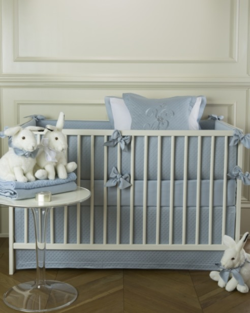 Юбка для кроватку Solo Blu - fioridivenezia.ru