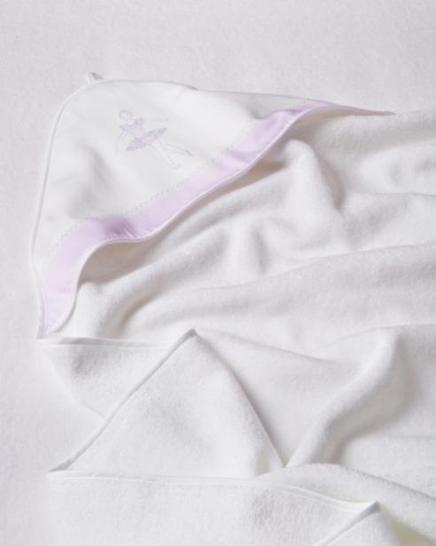 Банный комплект для малыша Ballet Print Lilla, махровый уголок - fioridivenezia.ru