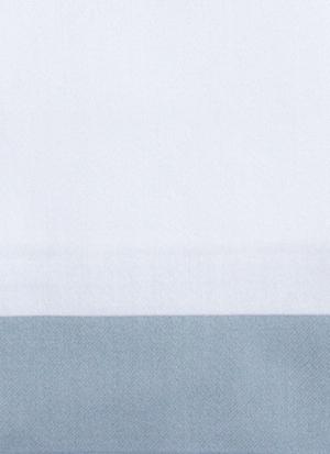 Образец ткани для пошива постельного белья - модель Canonica - цвет Sion/сероголубой - египетский хлопок 100%