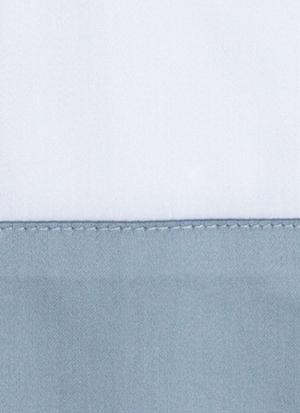 Образец ткани для пошива постельного белья - модель Foscari - цвет Sion/сероголубой - египетский хлопок 100%