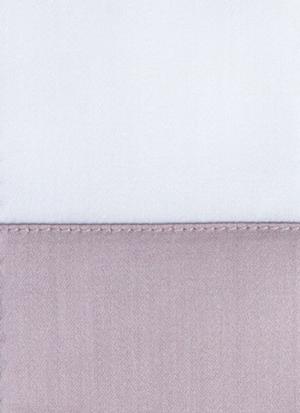 Образец ткани для пошива постельного белья - модель Foscari - цвет incenso/сирень - египетский хлопок 100%