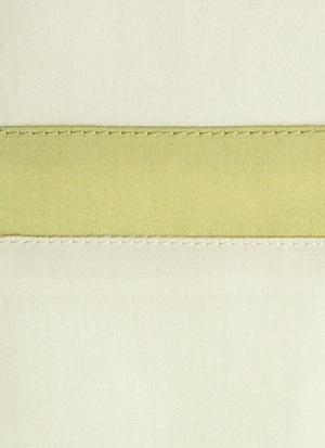 Образец ткани для пошива постельного белья - модель Cristina цвет Lime - египетский хлопок 100%