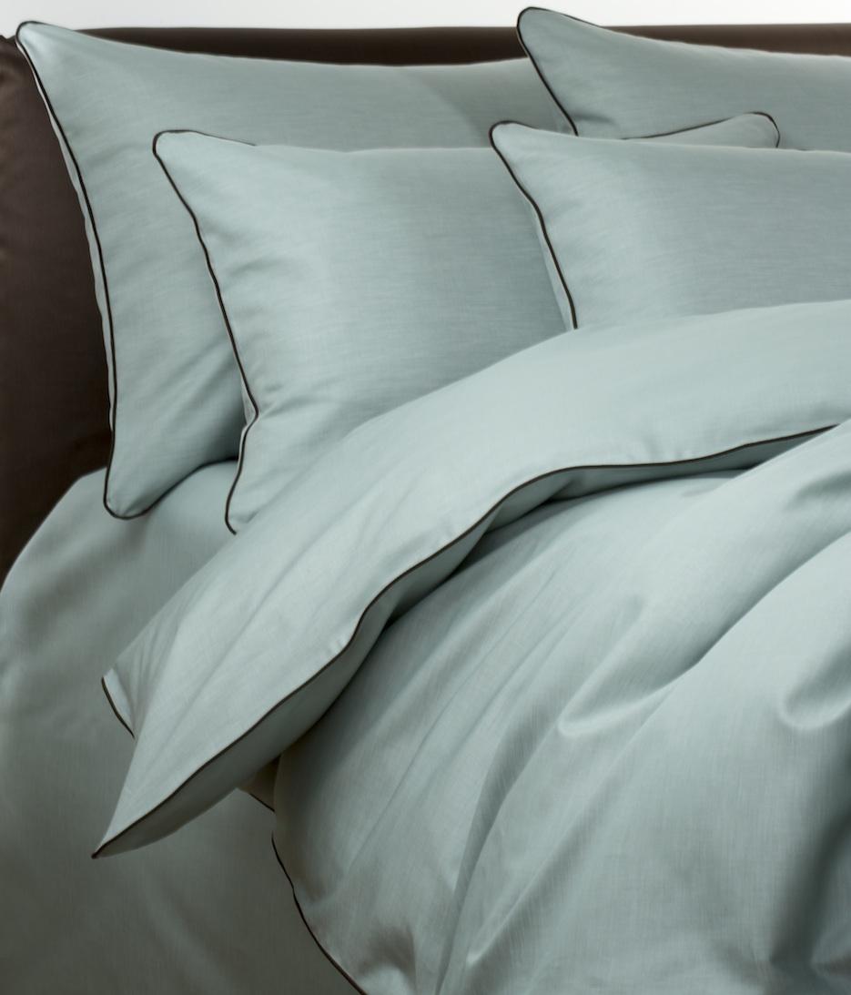 Постельное белье - модель Pietro - цвет Mint - египетский хлопок 100%